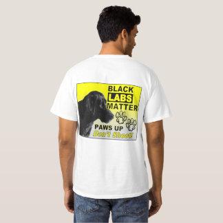 Camiseta negra de la materia de los laboratorios