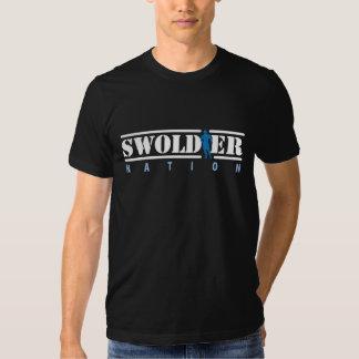 Camiseta negra de la nación de Swoldier Playera