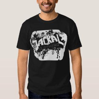 Camiseta negra de la polaina del chacal camisas