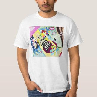 Camiseta negra de la rejilla de Kandinsky Playera