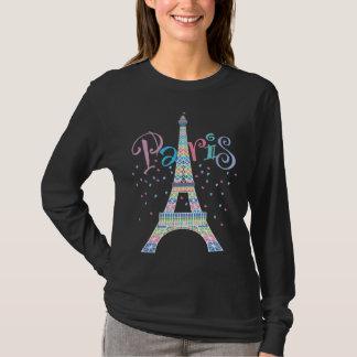 Camiseta negra de la torre Eiffel