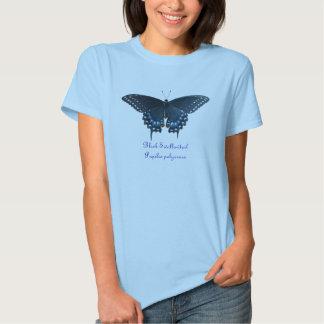 Camiseta negra de los polyxenes de Swallowtail Poleras