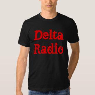 Camiseta negra de radio del delta camisas