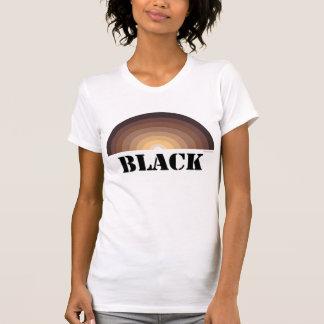 Camiseta NEGRA del ARCO IRIS Playera