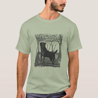 camiseta negra del arte del laboratorio