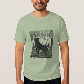 camiseta negra del arte del laboratorio playeras