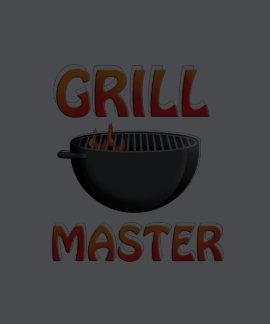 Camiseta negra del Bbq Grill Master