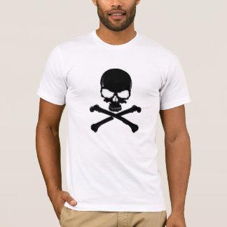 Camiseta negra del cráneo el |