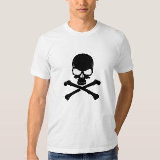 Camiseta negra del cráneo el | poleras