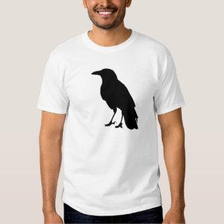 Camiseta negra del cuervo remera
