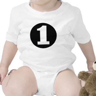 Camiseta NEGRA del CUMPLEAÑOS del RECORTE #1 de la