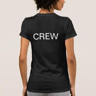 Camiseta negra del EQUIPO de las señoras