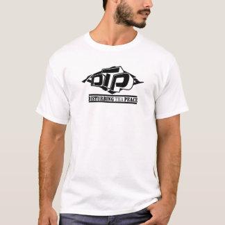 Camiseta negra del logotipo del DTP