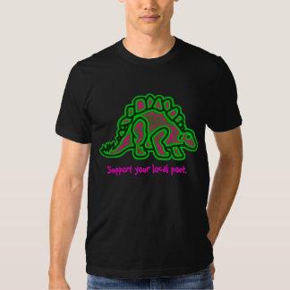 Camiseta negra del logotipo del RAD-C Stego de los Poleras