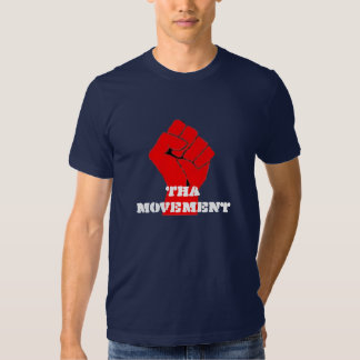 Camiseta negra del movimiento de Tha Remera