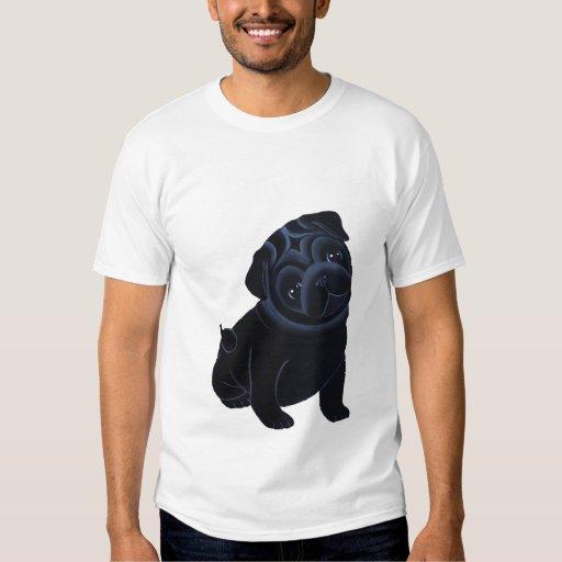 Camiseta negra del perrito del barro amasado playera