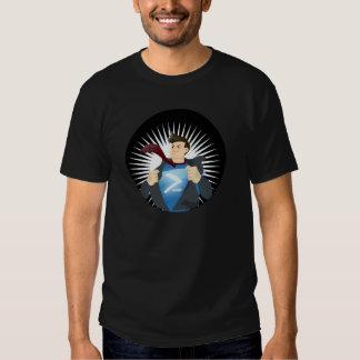 Camiseta negra del super héroe de PowerShell Polera