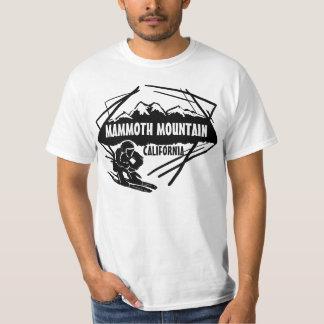 Camiseta negra del valor del esquí de Mammoth Playera