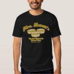 Camiseta negra famosa de las empanadas de la carne polera