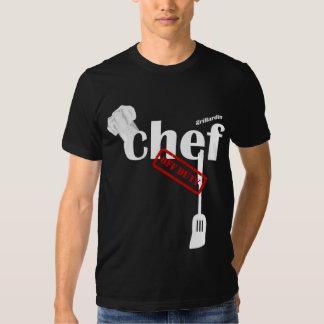Camiseta negra fuera de servicio del cocinero de remeras