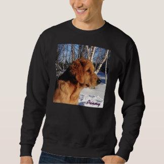 Camiseta negra grande de los árboles del penique y suéter