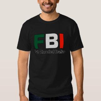 Camiseta negra italiana llena del FBI Blooded Camisas