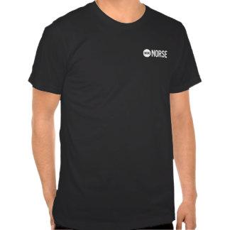 Camiseta negra llana de los nórdises playera