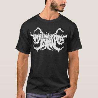 Camiseta negra llana del logotipo