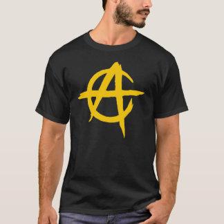 Camiseta Negra - Logotipo Anarquista - Capitalista