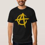 Camiseta Negra - Logotipo Anarquista - Capitalista Playera