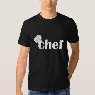 Camiseta negra para hombre del gorra del cocinero polera