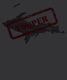 Camiseta negra para hombre del Grunge de Michigan