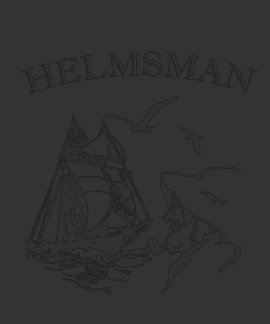 Camiseta negra para hombre del marinero del velero