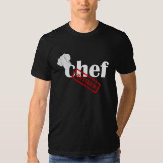 Camiseta negra para hombre jubilada cocinero camisas