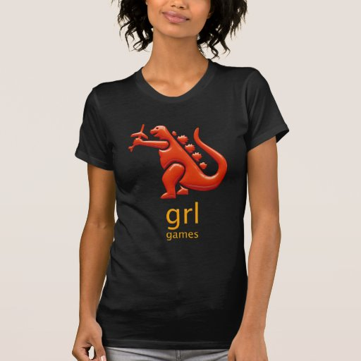 Camiseta negra para mujer de los juegos de GRL
