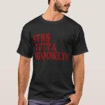 Camiseta negra recta de Outta Brooklyn