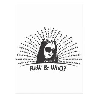 Camiseta negra y blanca tarjetas postales