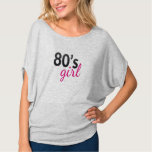 Camiseta negra y rosada nostálgica de moda del polera