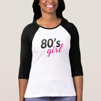 Camiseta negra y rosada nostálgica de moda del remeras
