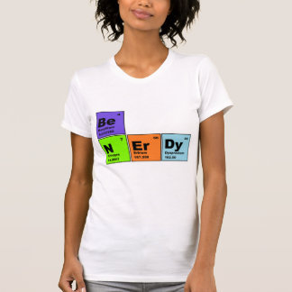 Camiseta Nerdy de la tabla periódica Playeras