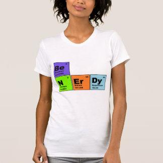 Camiseta Nerdy de la tabla periódica Polera