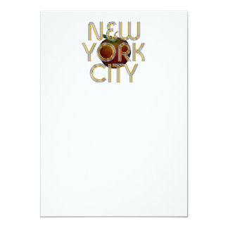 CAMISETA New York City Invitación 12,7 X 17,8 Cm