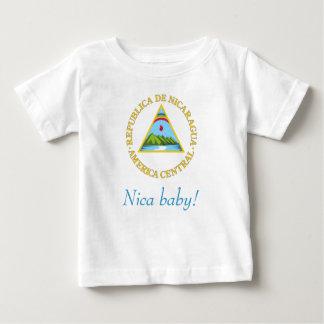 Camiseta nicaragüense del bebé playeras