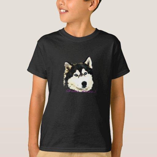 Camiseta niño perro y lobo