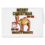 Camiseta NM.png del navidad de Santa del camello d Tarjeta
