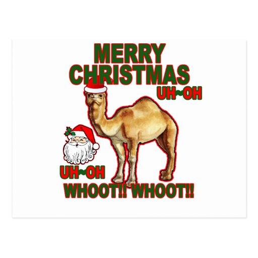 Camiseta NM.png del navidad de Santa del camello Postal