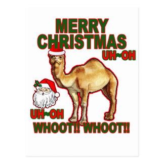 Camiseta NM.png del navidad de Santa del camello Postales