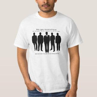 Camiseta no tan Anon anónima Playeras