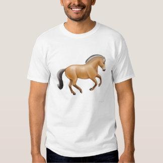 Camiseta noruega del caballo del fiordo polera