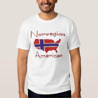 Camiseta noruega del mapa de American/USA Polera